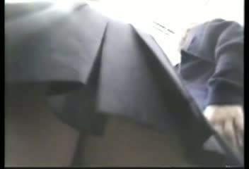 電車内の女子校生の生パン盗撮!地味目な顔だけど可愛らしいパンツ履いてるw